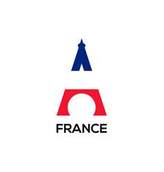 eifel flage logo vector image