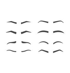 Eyebrow shaping isolated vector