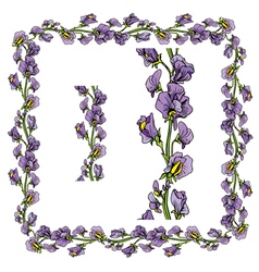 flower frame 2 380 vector image