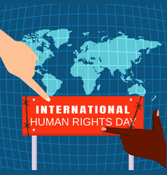 Global human rights day concept background flat vector