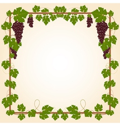 Grape square frame vector