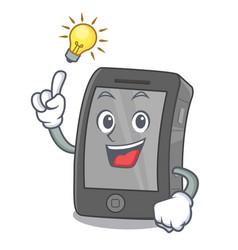 Have an idea ipad in a cartoon shape vector