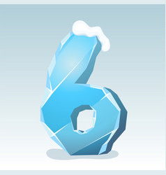 Ice number six vector