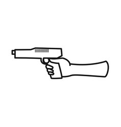 Isolated object hand and gun symbol collection vector