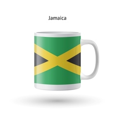 Jamaica flag souvenir mug on white background vector