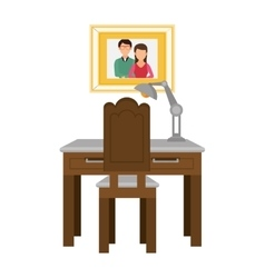 Kitchen table wooden icon vector