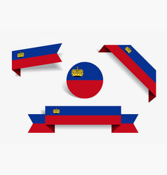 Liechtenstein flag stickers and labels vector