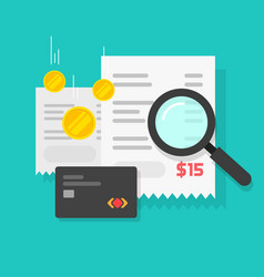 money or payment financial analysis research or vector image