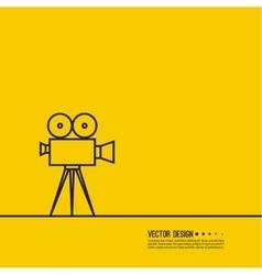 Movie projector vector