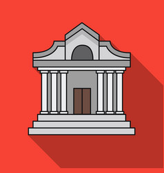 museum building icon in flat style isolated on vector image