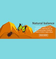 Natural balance banner horizontal concept vector
