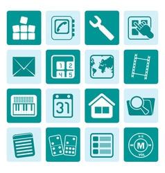 One tone Mobile Phone and Computer icon vector image vector image