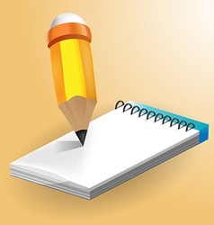 Paper Note book white vector image