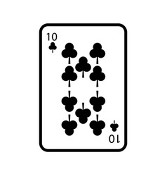 Poker playing club card casino gambling icon vector