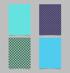 repeating heart pattern brochure background vector image