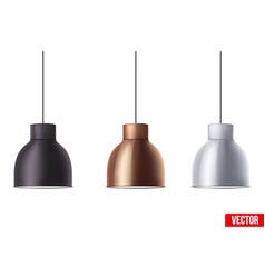 Retro metallic stylish ceiling cone lamp vector
