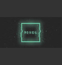 Retrofuturistic cyberpunk glitch pixel rectangle vector