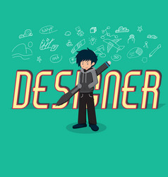 salary man 01 designer vector image