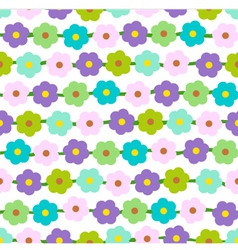 Seamless Background With Small Daisies vector image vector image