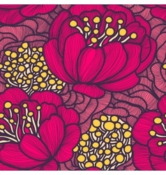 seamless floral pattern Endless texture vector image
