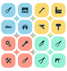 Set of simple repair icons vector