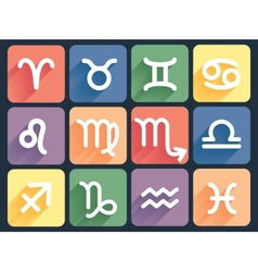 set of zodiac signs vector image