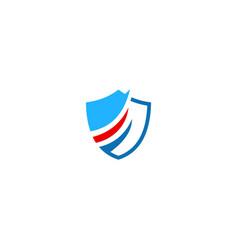 shield protect technology company logo vector image
