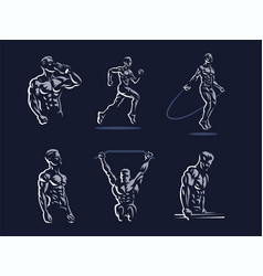 Sport sporty and athletic man vector