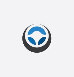 steering wheel icon logo symbol vector image