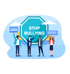stop bullying concept vector image