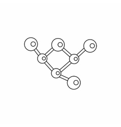Structure molecule icon outline style vector image