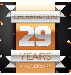 Twenty nine years anniversary celebration golden vector