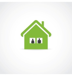 two in house vector image