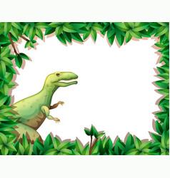 tyrannosaurus on nature border vector image