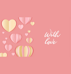 valentine day design template vector image