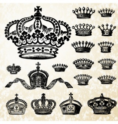 victorian crown set vector image
