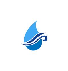 wave water logo icon design vector image