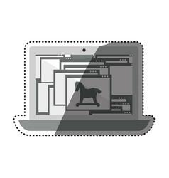 Computer infected virus trojan vector