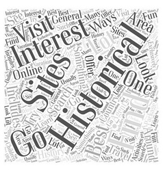 Historical sites word cloud concept vector
