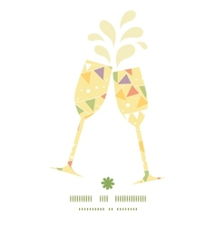 party decorations bunting toasting wine glasses vector image vector image