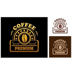 Premium Coffee label or badge vector image vector image