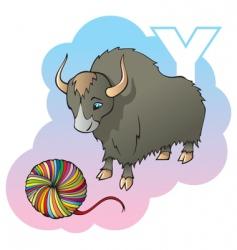 children alphabet letter y vector image vector image