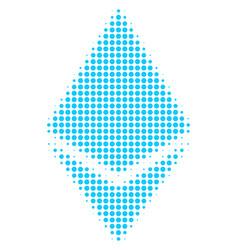 ethereum crystal halftone icon vector image