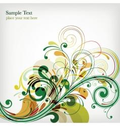 floral design background vector image vector image