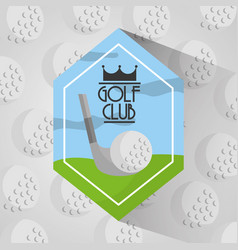 golf club sport balls background vector image
