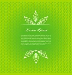 green calligraphic elements vector image vector image