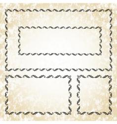 leaf frame set vector image vector image