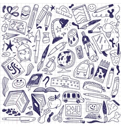 School education - doodles vector image vector image