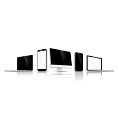 Set of modern devices vector image vector image