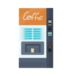 Vending Machine for Coffe Office Interior vector image